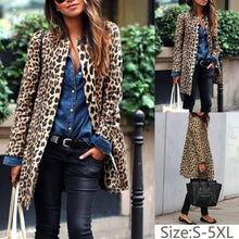 Load image into Gallery viewer, Women Plus Size Leopard Sexy Warm Coat