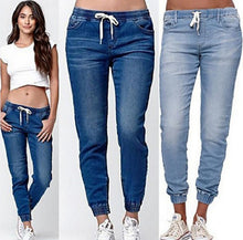 Load image into Gallery viewer, Chic Elastic waist Drawstring Skinny Jeans