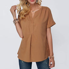 Load image into Gallery viewer, Plus Size Solid Color Blouses