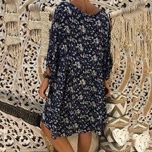Load image into Gallery viewer, V Neck Long Sleeve Floral Dress