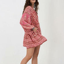 Load image into Gallery viewer, Bohemian Style Printing Loose Mini Dress