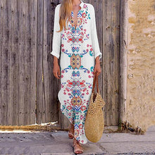Load image into Gallery viewer, Bohemian V Neck Printing Dresses