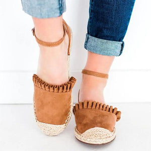 Casual Ruffle Side Flats
