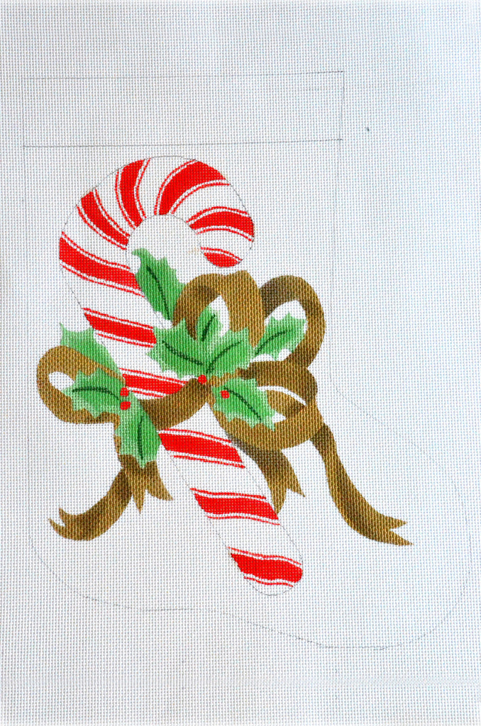 Candy Cane and Bow Stocking