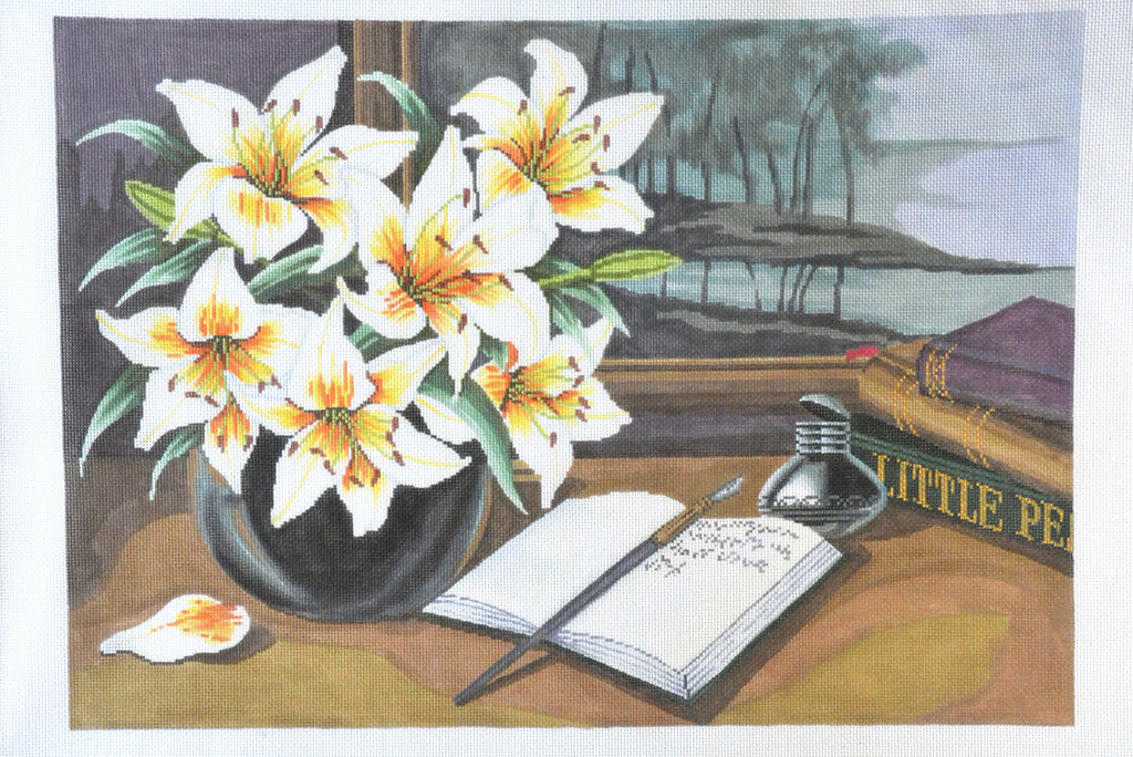 Flowers on Desk