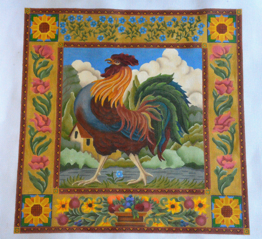 Rooster with Border