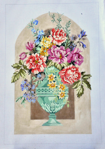 Urn with Peonies