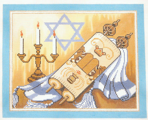 Torah with Candles
