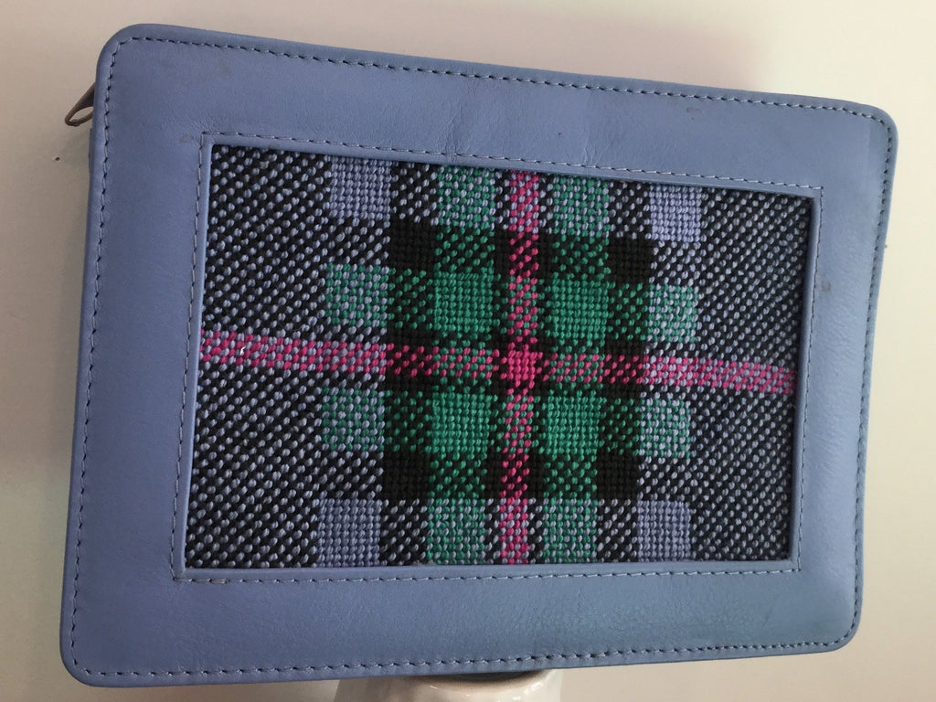 Plaid Zip Clutch