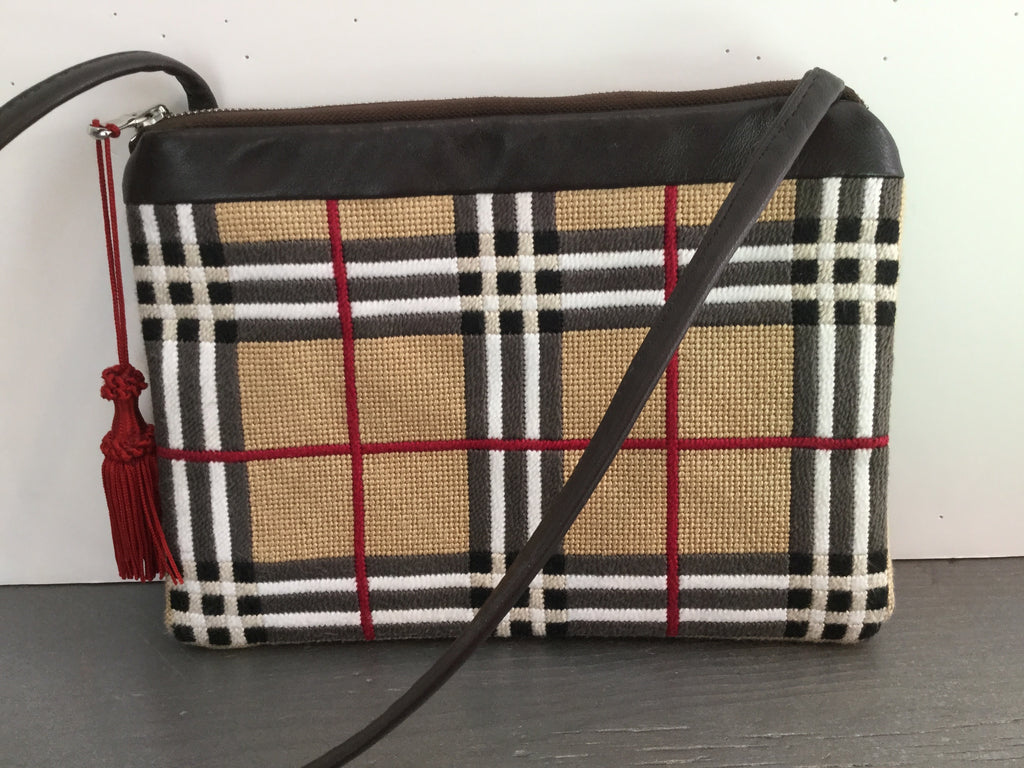 English Plaid Shoulder Bag