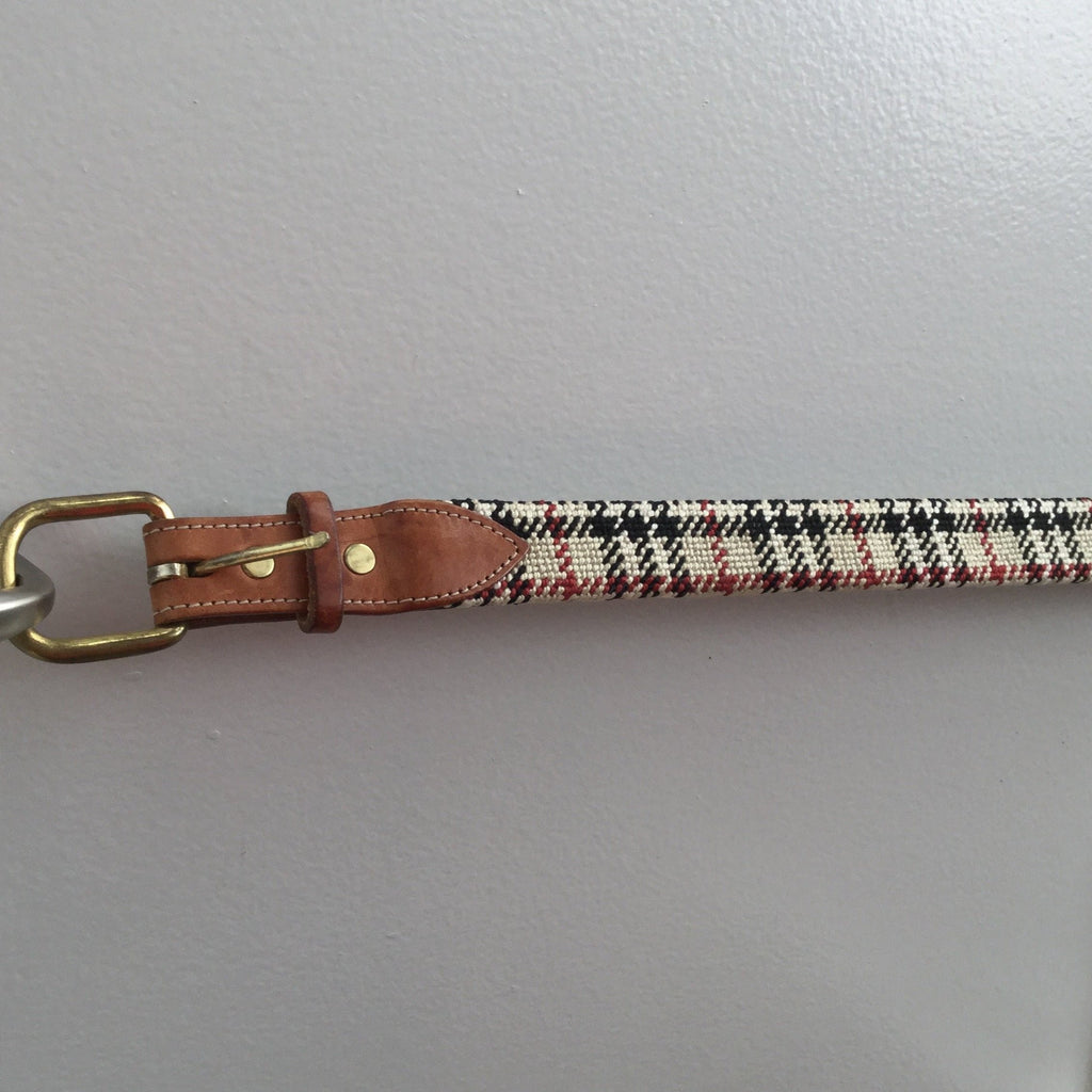 English Plaid Belt