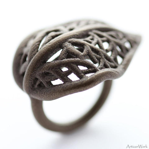 Leaf - Ring (Stainless Steel)