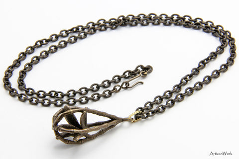 Caged Bamboo - Necklace (Stainless Steel)
