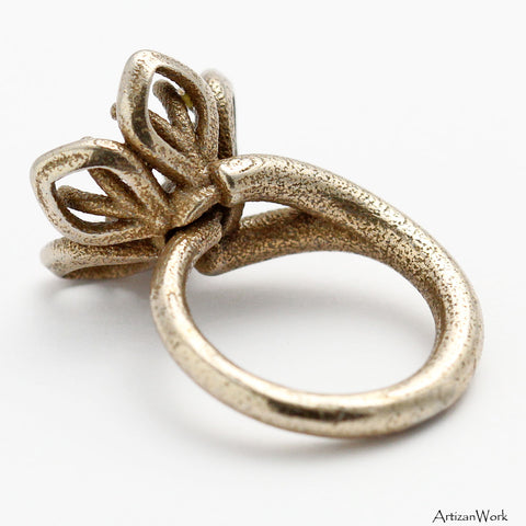 Orchid Flower - Ring (Stainless Steel)