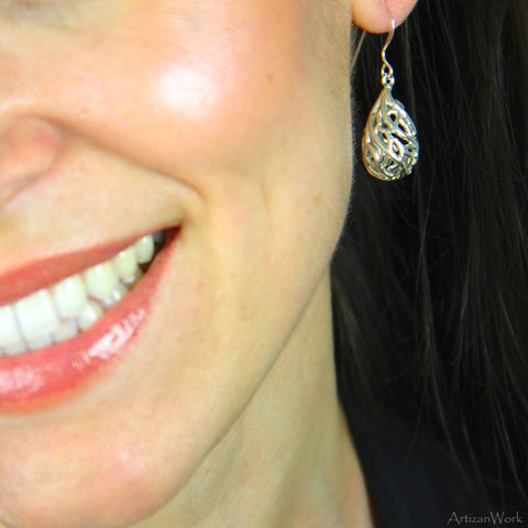 Fan Coral - Earrings (Sterling Silver or Gold)