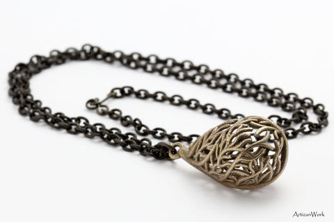 Fan Coral - Necklace (Stainless Steel)