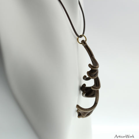 Fall Leaf - Necklace (Stainless Steel)
