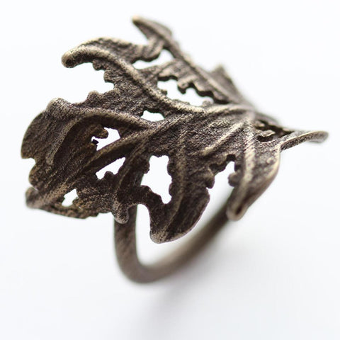 Decaying Leaf - Ring (Stainless Steel)