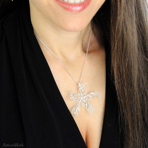 Coral Fan Lg - Necklace (Sterling Silver or Gold)