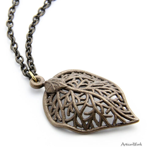 Grande Leaf - Necklace (Stainless Steel)