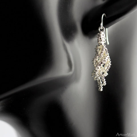 Tangled Coral - Earrings (Sterling Silver or Gold)