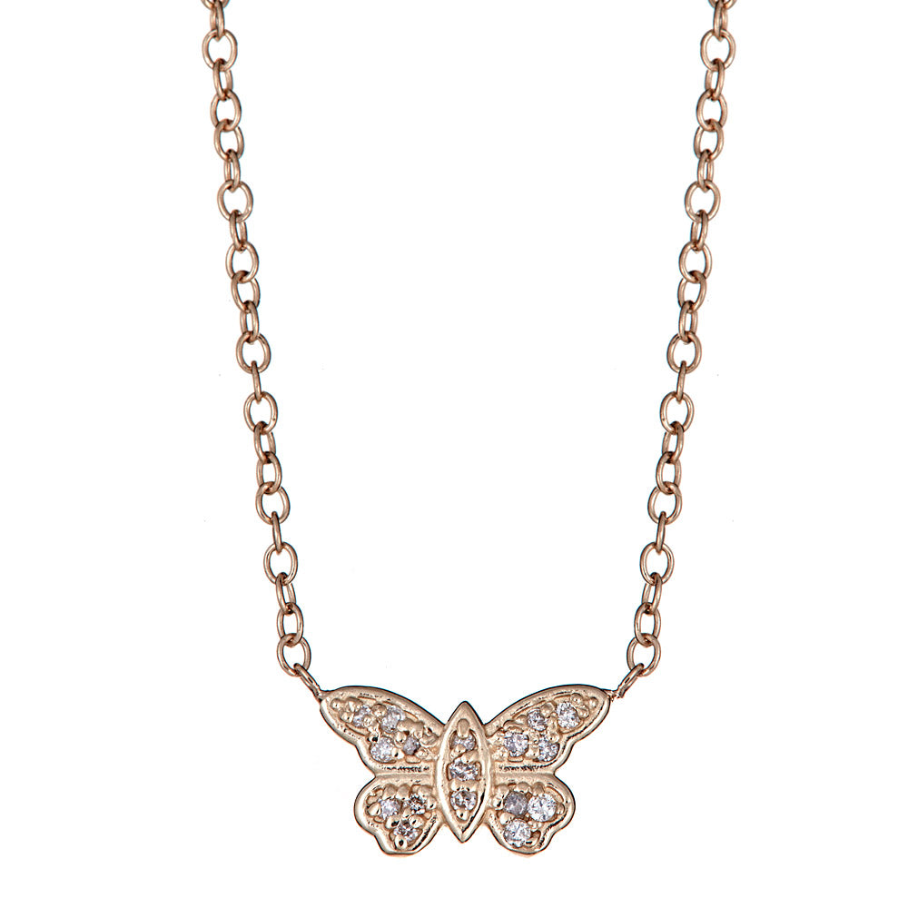 Mini Butterfly Stationed Necklace