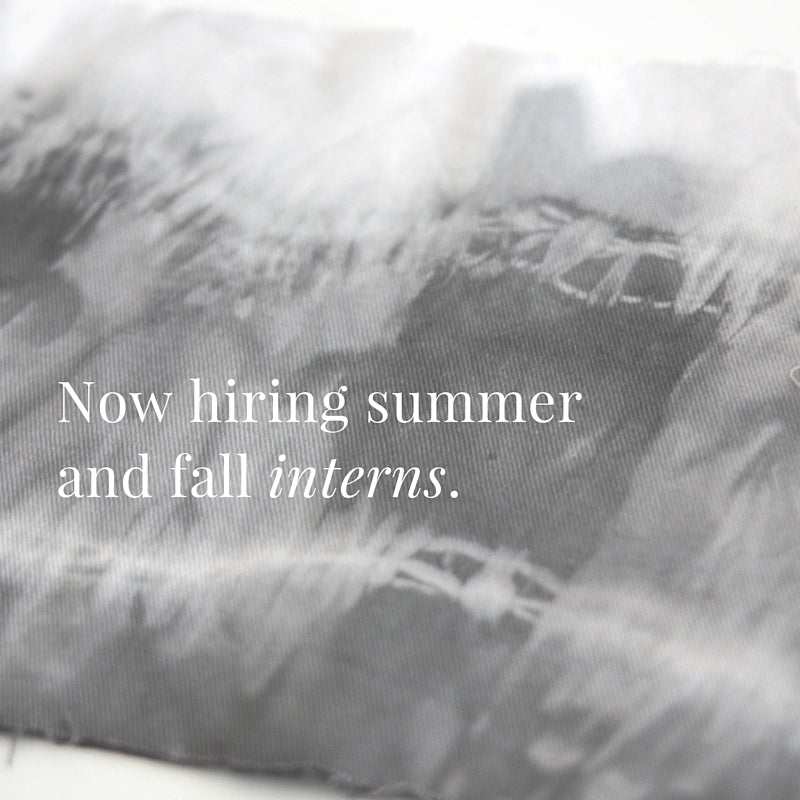NOW HIRING:  SUMMER AND FALL INTERNSHIPS