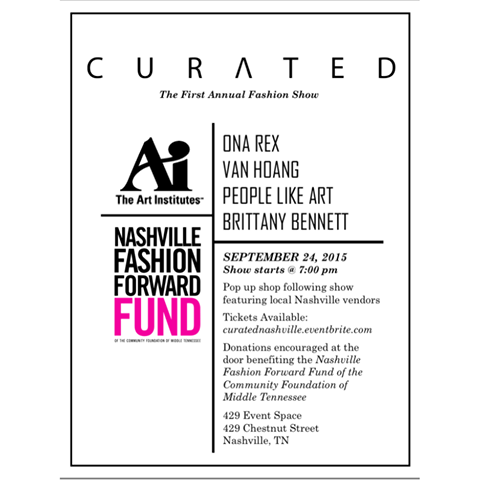 CURATED Fashion Show in Nashville Sept 24