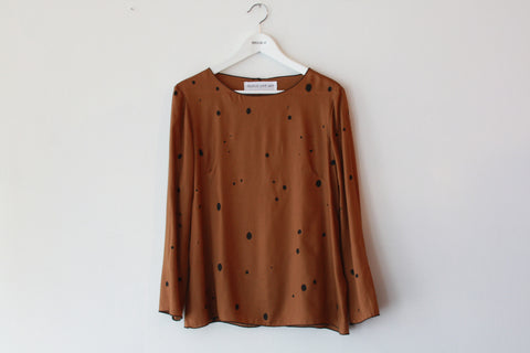 Popover Top--Speckle Print--Copper--Wholesale
