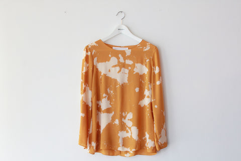 Popover Top--Texture Dyed--Turmeric and Cream--Wholesale