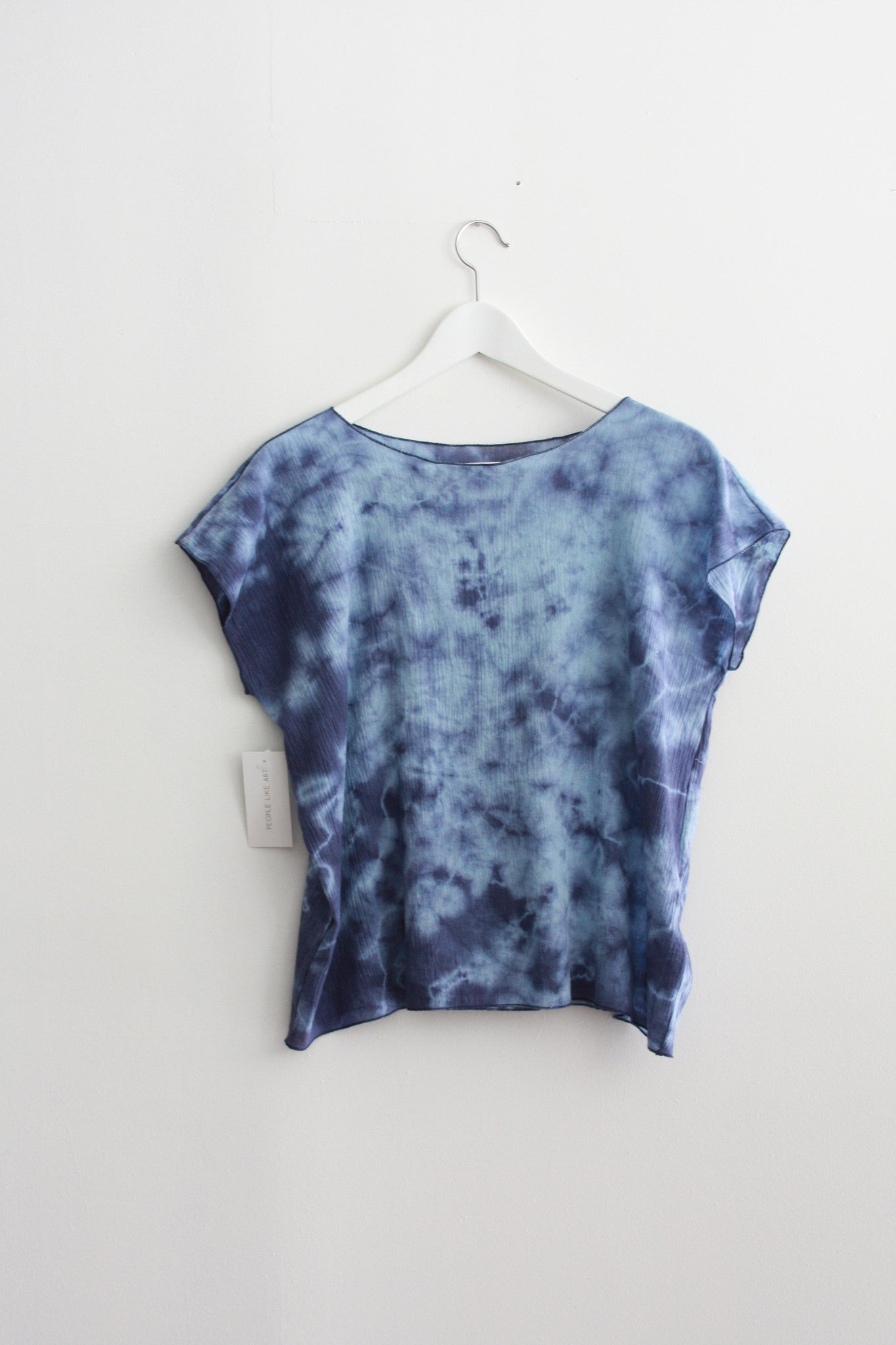 Blue Dyed Gauze Square Top  Wholesale