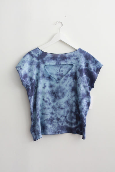 Blue Dyed Gauze Square Top--Wholesale