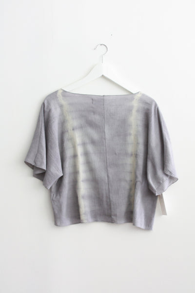 Gray Dyed Gauze Short Top