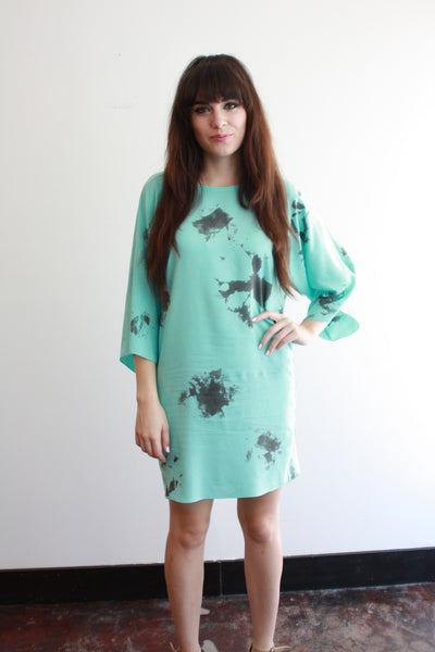 FRIDA Dress--Lagoon--Geography Print