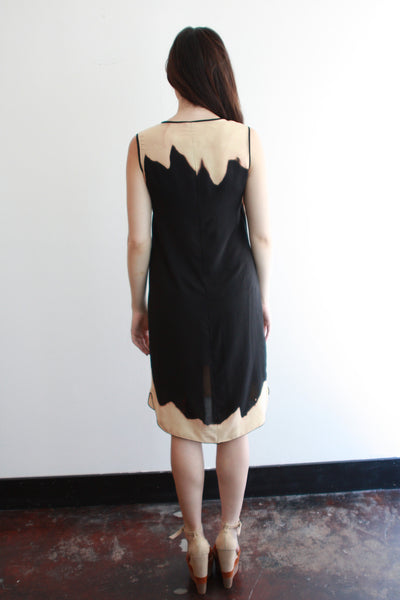 MONA Dress--Black--Erosion Print