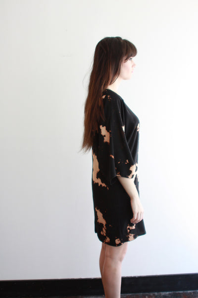 FRIDA Dress--Black--Geography Print
