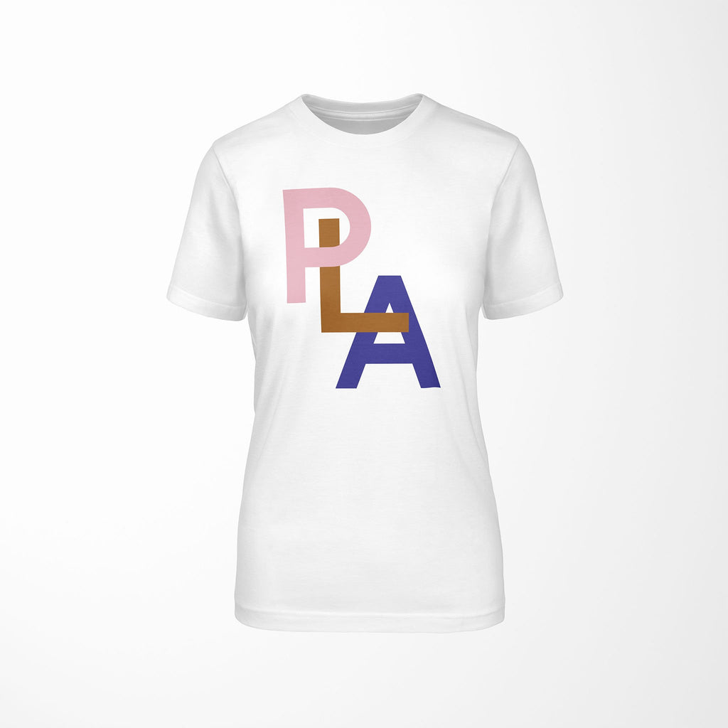 PLA Relaxed Fit Women's 100% Cotton White T-Shirt front