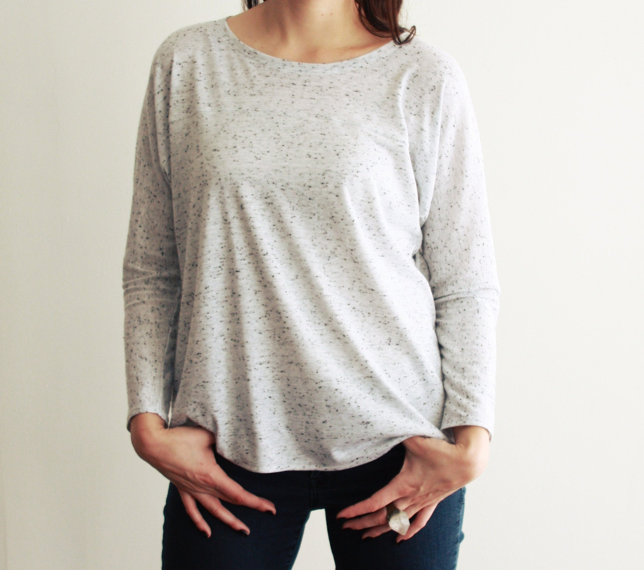Speckle Knit Top