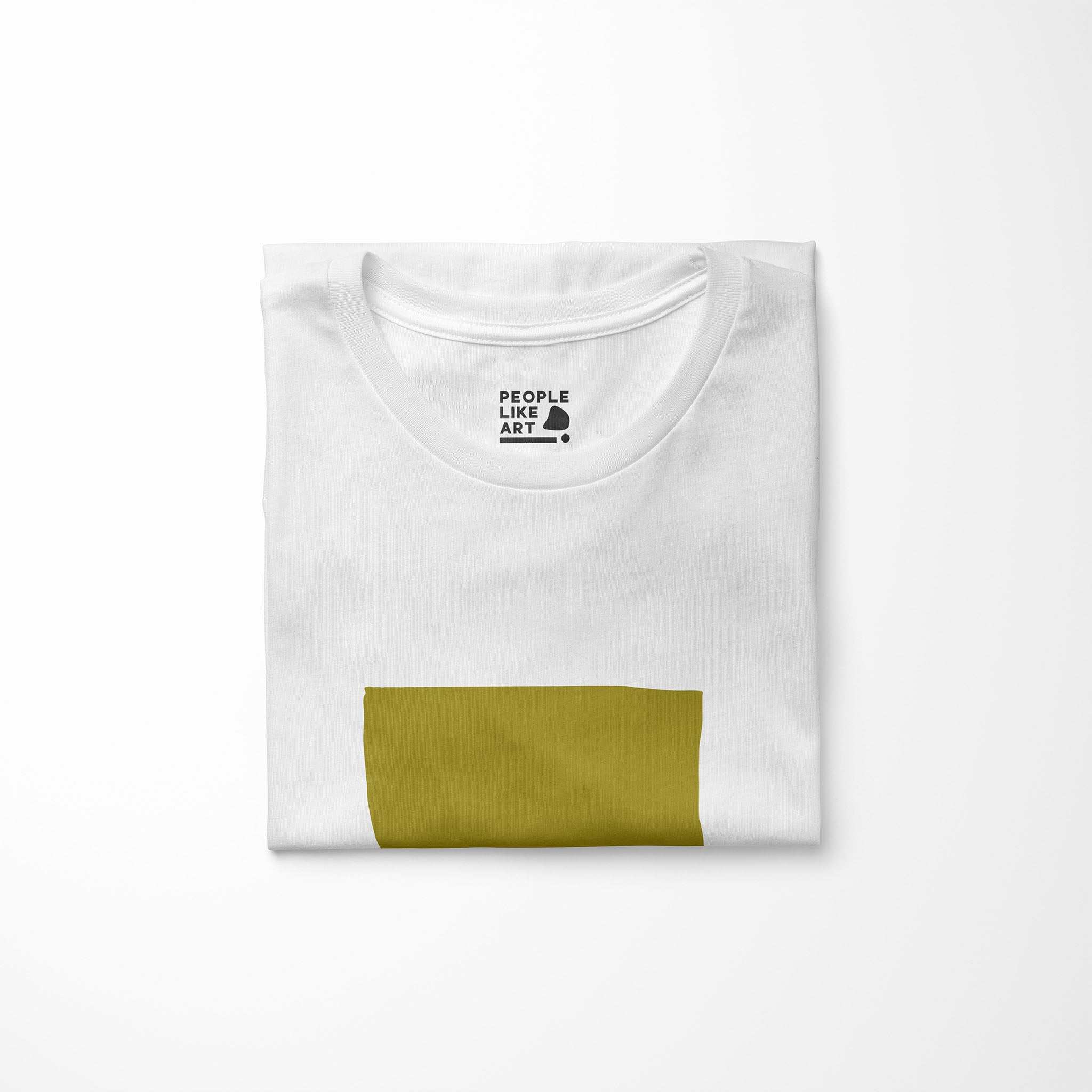 ARTIFACT Relaxed Fit Women's 100% Cotton White T-Shirt folded