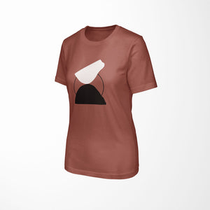 BALANCE Relaxed Fit Women's Triblend Clay T-Shirt side angle