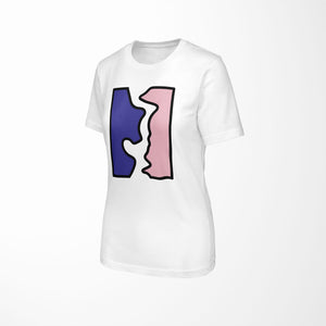 BROKEN Relaxed Fit Women's 100% Cotton White T-Shirt angle view