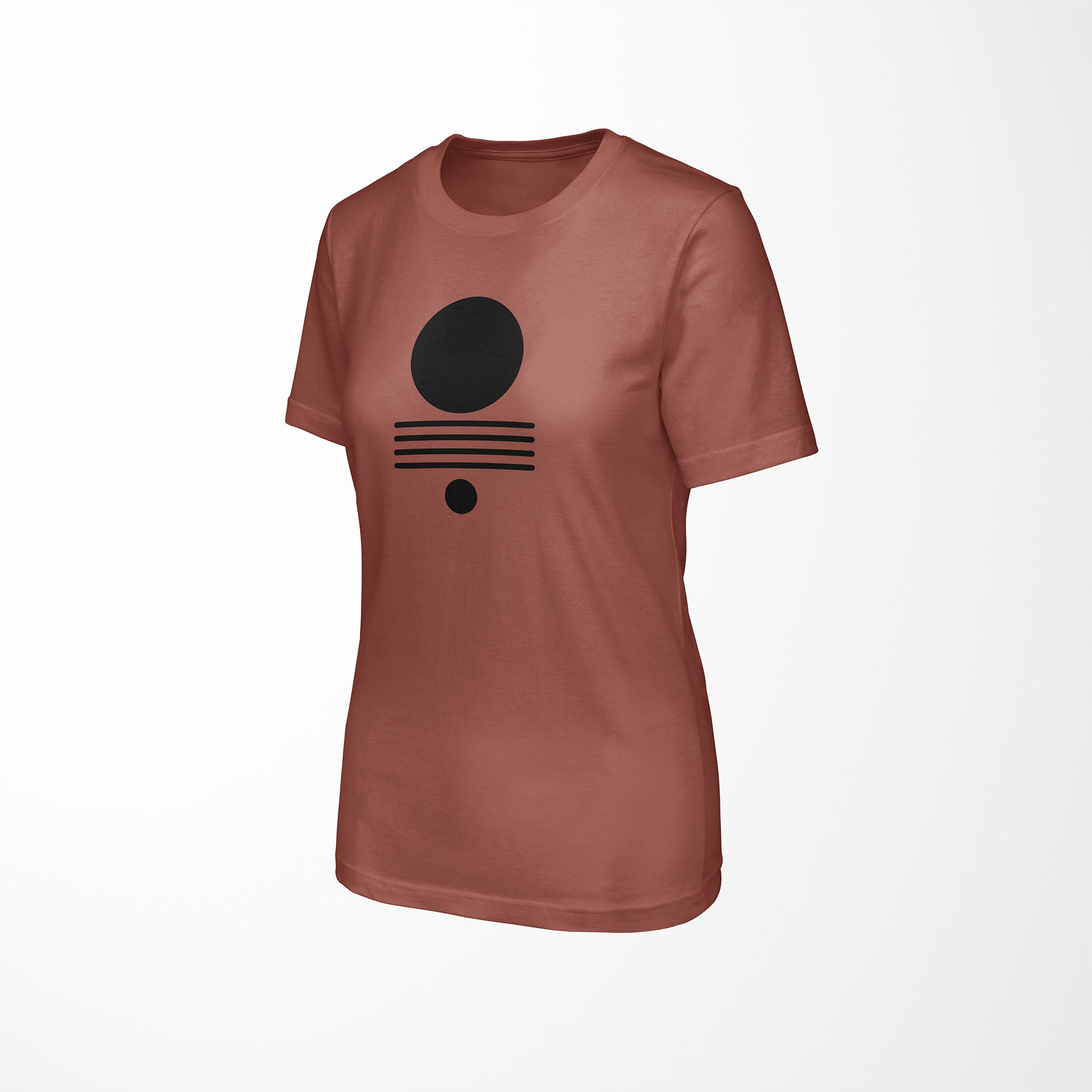 ELEMENTS Relaxed Fit Women's Triblend Clay T-Shirt side angle