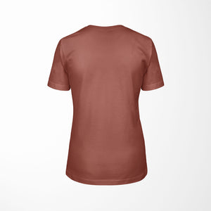 ELEMENTS Relaxed Fit Women's Triblend Clay T-Shirt back