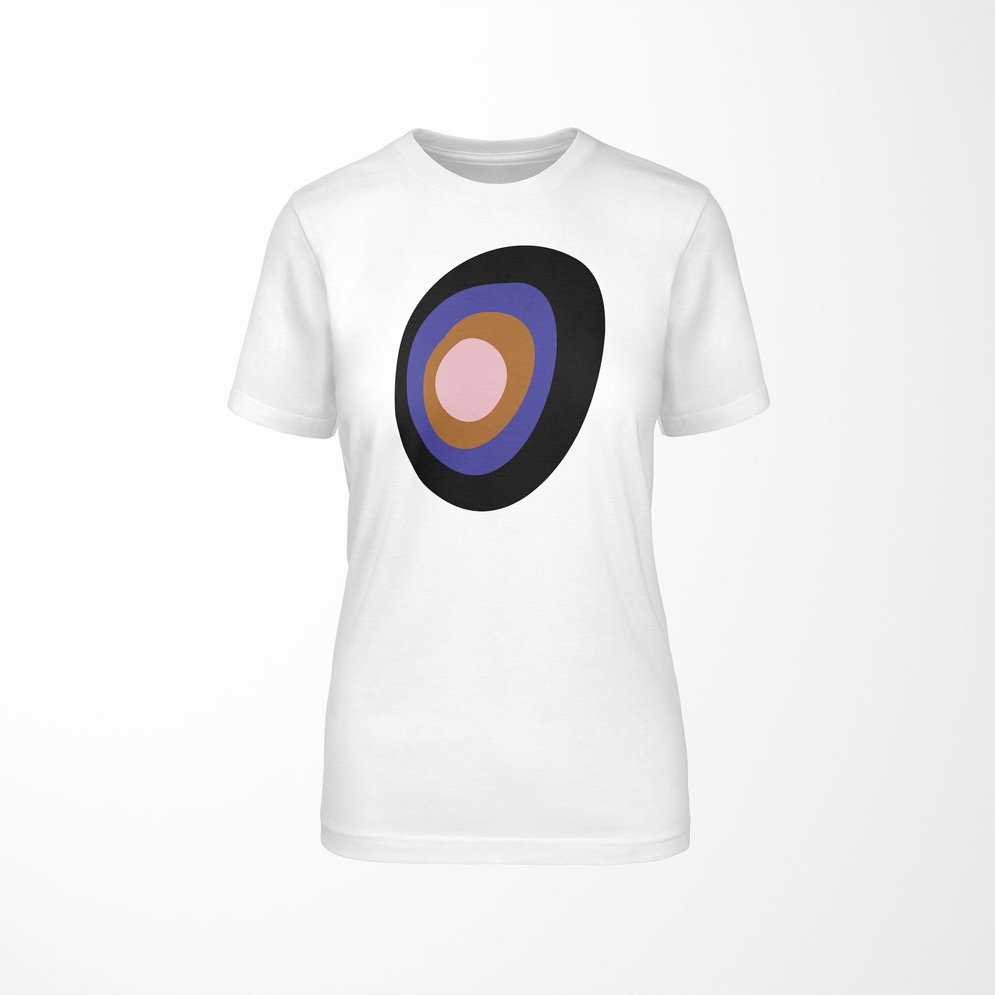 CONCENTRIC Relaxed Fit Women's 100% Cotton White T-Shirt  front