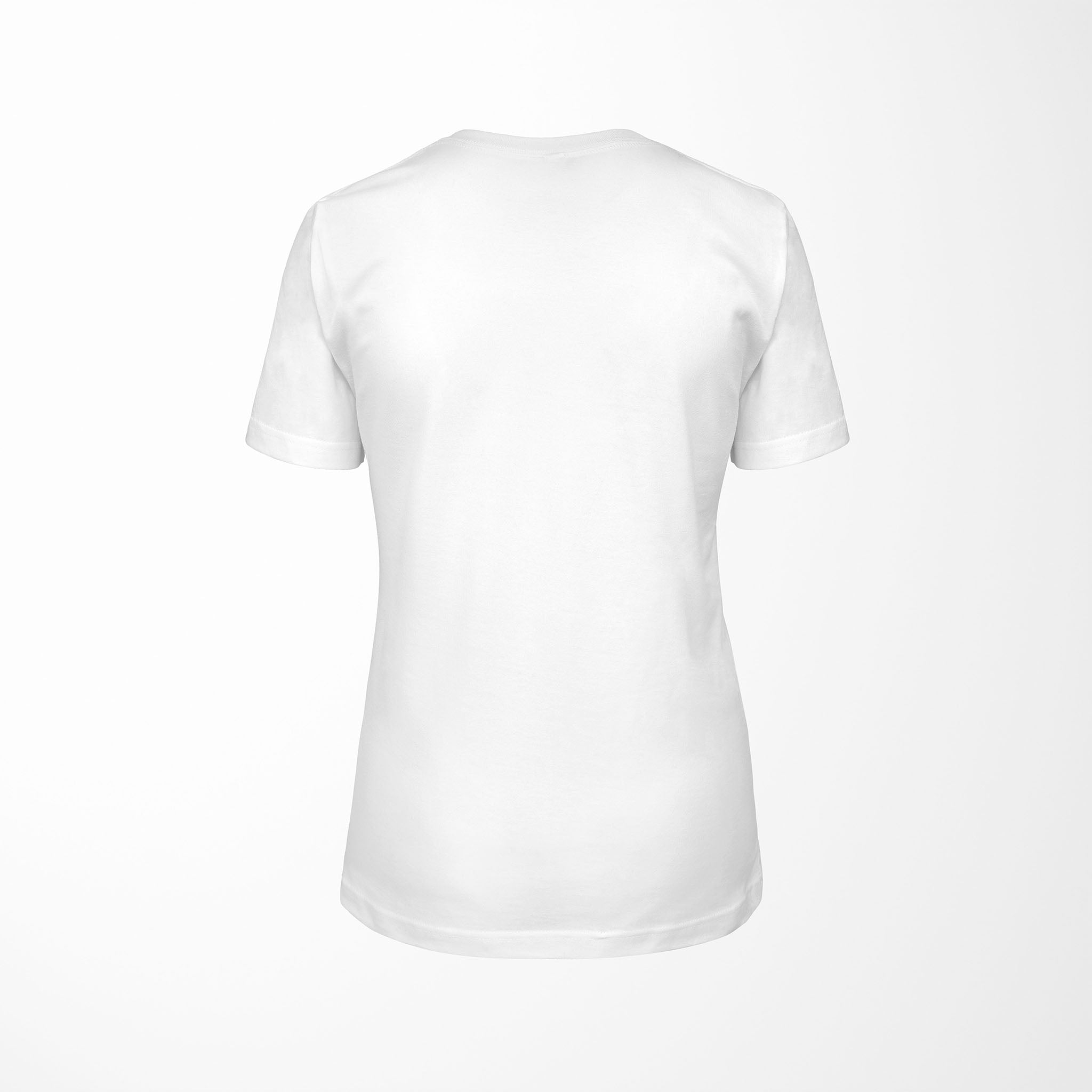 white relaxed fit women's t-shirt with explode print back
