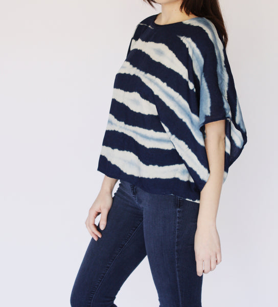 Indigo Stripes Top