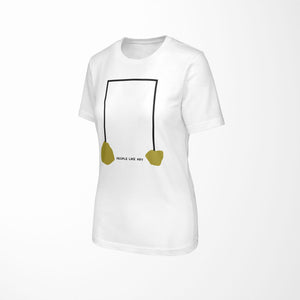 INDUSTRIAL Relaxed Fit Women's 100% Cotton White T-Shirt angle view