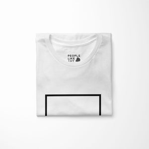 INDUSTRIAL Relaxed Fit Women's 100% Cotton White T-Shirt folded