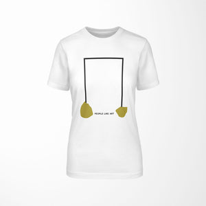 INDUSTRIAL Relaxed Fit Women's 100% Cotton White T-Shirt front