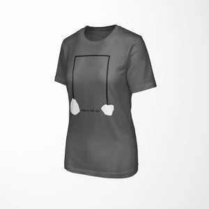INDUSTRIAL Relaxed Fit Women's 100% Cotton Gray T-Shirt angle view